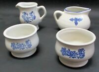 Collectible Pfaltzgraff Yorktowne coffee creamer, gravy bowl & 2 serving dishes