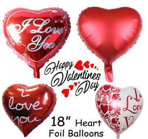 10x Red Heart Foil Helium Balloons Mother Day Wedding Party Engagement VE Decor