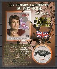 Mali, 2009 issue. M. Maguire, Nobel Prize Winner. Orchid & Butterfly. IMPERF