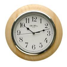 Wooden Quartz (Battery Powered) Contemporary Wall Clocks