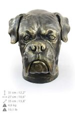 Boxer type 2 - dog head resin figurine, high quality, Art Dog