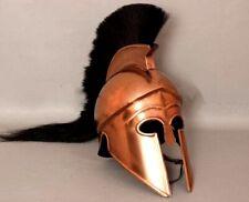 Halloween Greek Corinthian Athenian Spartan Hoplite Warrior Helmet W/ Black P