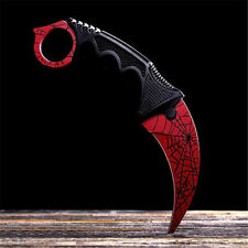 CSGO Karambit Tooth Doppler Counter Strike Claw Fixed Cs Go Knife Blade kk