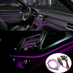 2M Purple LED Car Interior Decor Atmosphere Wire Strip Light Lamp Accessories