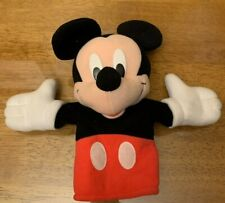 """New listing Disney Store - Mickey Mouse - Exclusive Hand Puppet - Plush Pretend Toy 11"""""""