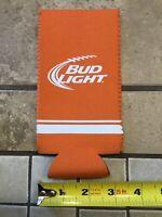 Bud Light Summer Tall Can Koozie Insulator Bottle koozie Orange Brand New