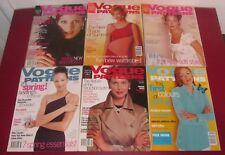 Job Lot 6 VOGUE PATTERNS MAGAZINES 1997 Fashion Lifestyle Chic