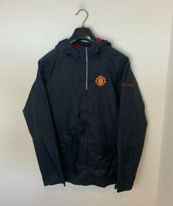 Youth Junior Black Manchester Man United Windbreaker Jacket (Size Boys XL) S164