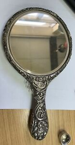 Sterling Silver Ladies Hand Mirror Chester 1905 by Boots Pure Drug Company