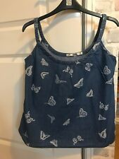 Dorothy Perkins Size 8 Denim Vest With Butterfly Print