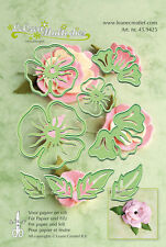 LeCrea' Multi Dies Cut/Emboss Die Stencil for paper/card/felt 45.9425 Flower 005