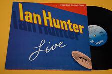 IAN HUNTER 2LP WELCOME TO THE CLUB LIVE ORIG USA 1980 EX ! GATEFOLD