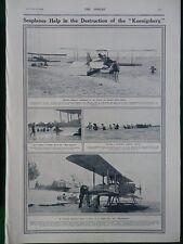 1915 SOPWITH SEAPLANES HELP IN DESTRUCTION OF KOENIGSBERG WW1 WWI