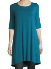 Eileen Fisher Nile Round Neck Viscose Jersey Knit Tunic Top S NWT $158