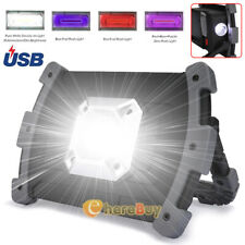 90000LM Rechargeable Portable LED COB Work Light Camping Emergency 2 Floodlights