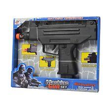 Mini Uzi Submachine Toy Gun Blaster Army Police Kids Toy Combat Defence Games