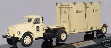 1/43 DIP MODELS 905102 russian truck GAZ 51P  beige w T213 trailer USSR CCCP NIB