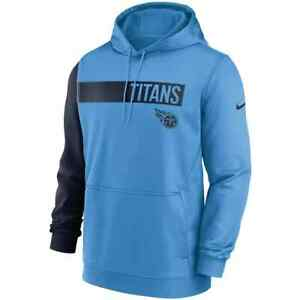 Brand New 2021 NFL Tennessee Titans Nike Colorblock Performance Pullover Hoodie