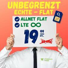 1A Netz Handyvertrag Tarif O2 Allnet Flat SMS Flat Internet Unlimited 19,99 mtl