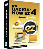 NTI Backup Now EZ 4, Backup & Recovery for Win 10, 8, 7, Vista or XP - DOWNLOAD