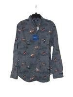 Croft And Barrow Hunting Fishing Themed Shirt Medium Men Cotton New