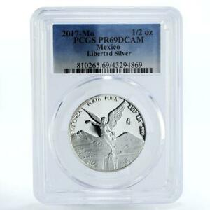 Mexico 1/2 onza Libertad Angel of Independence PR69 PCGS proof silver coin 2017