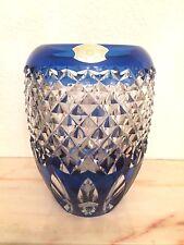 VAL SAINT-LAMBERT - Vase ovoïde - signé - doublé bleu