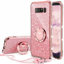 Samsung Galaxy Note 8 Case Protective Cover Bling Diamond Kickstand Rose Gold