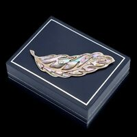 Antique Vintage Deco Mid Century 925 Sterling Silver TAXCO Abalone Pin Brooch