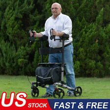 ELENKER WALKER Upright Rollator Walker Euro Style Stand Up Walking Medical Aid