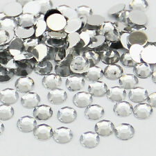 2000 Crystal Flat Back Rhinestones Gems Diamante Bead Nail Art Crafts 2 3 4 5 mm