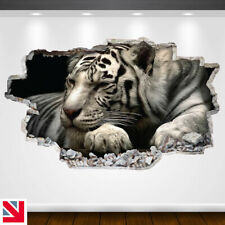 WHITE TIGER BIG CAT ANIMAL Wall Sticker Decal Vinyl Art A5
