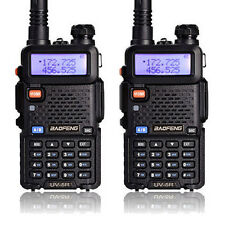 2X Baofeng UV-5R Dual Band UHF/VHF Radio RF 5W OUTPUT NEW Version US STOCK