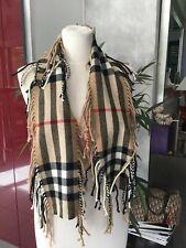 Chèche foulard BURBERRY tartan rouge/noir/beige impeccable laine et cachemire