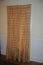 """Custom DURALEE SILK Plaid pleat Lined & Felt Interlined 42""""x 86"""" Drape Panel"""