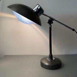 """ANCIENNE LAMPE DE BUREAU ARCHITECTE """"FERDINAND SOLERE""""  Old French Lamp"""