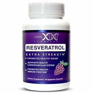 Genex Resveratrol 1500mg Per Serving- Max Strength - Antioxidant Supplement...