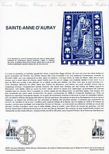 DOCUMENT PHILATELIQUE // SAINT ANNE D'AURAY 1981