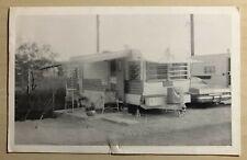 Davicos Trailer Park Brownsville Texas Vintage B&W Postcard