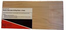 "Cedar Grilling Planks — 3 Pack — Cedar — 12.5"" x 5.5"" x .5"" Free Shipping"