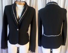 NEW Lady M White House Black Market Sweater Woman Medium Gold Chain WHBM 8 Wool