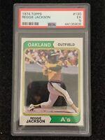 1974 Topps - Reggie Jackson #130 - PSA 5 - Oakland Athletics