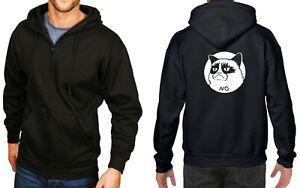 Tardar The Grumpy Cat Hoodie Zipped Sweatshirt Weekend Hooded Jumper Jacket