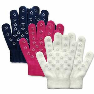 EvridWear Kids Magic Stretch Pretty Gloves For Girls 3 Pairs/Pk