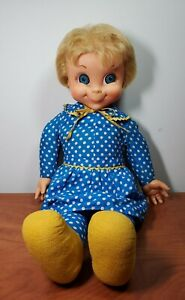 """⭐️Vintage  1967 Miss Beasley Mattel   With Apron And Collar Original Doll 22""""⭐️"""