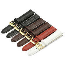 Leather Watch Band Black Brown Strap Stainles Pin Buckle 14 16 18 19 20 21 22 mm