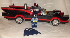 NEW Lego BATMAN Minifigure & 1966 BATMOBILE split from 76052 -The Batcave - Rare
