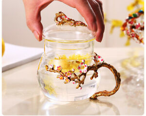 Office Coffee Mug Glass Tea Cup Filter Tea Water Separate Tea Home Cup with Lid