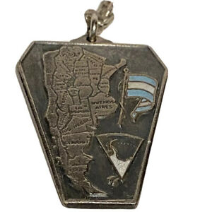1978 FIFA World Cup Argentina Key Chain Map Flag Soccer Vintage Collectors Item