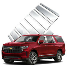 12pc Pillar Post Covers w/Mirror fits 2021 Chevy Suburban by Brighter Design